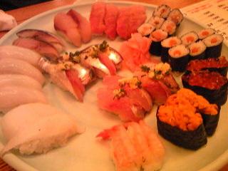 きょうは寿司♪