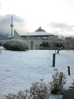 京都は雪です