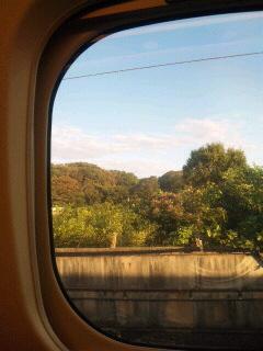 朝一新幹線乗車中
